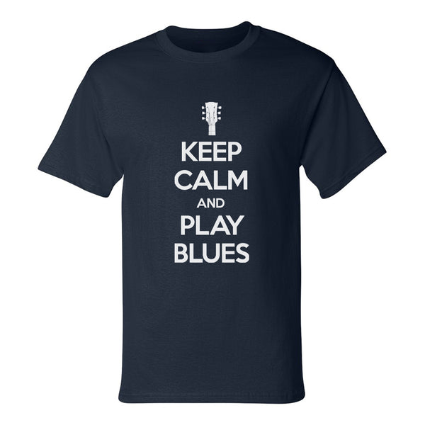 Keep Calm and Play Blues Champion T-Shirt (Unisex) - Navy