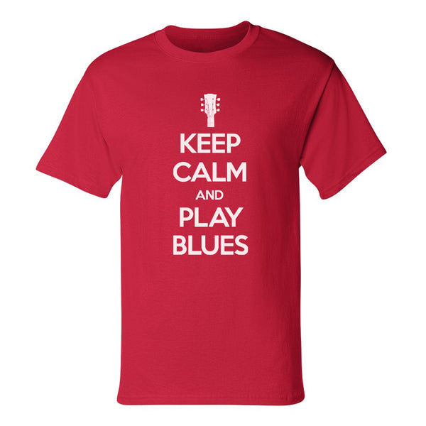 Keep Calm and Play Blues Champion T-Shirt (Unisex) - Red