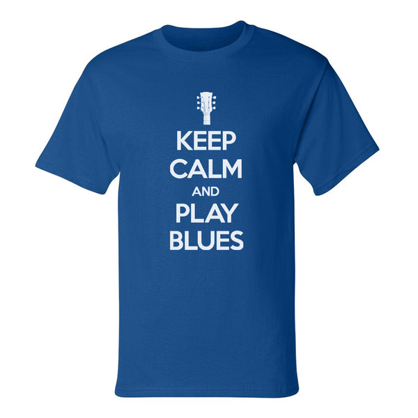 Keep Calm and Play Blues Champion T-Shirt (Unisex) - Royal