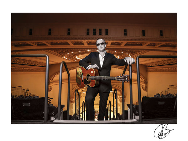 "#30 Official ""Carnegie Hall"" JOE BONAMASSA Collectible Litho (UNFRAMED - INTERNATIONAL ONLY)"