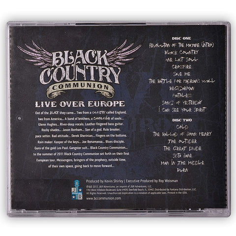 B.C.C® - Live Over Europe </br>(Double CD) </br>(Released: 2012)
