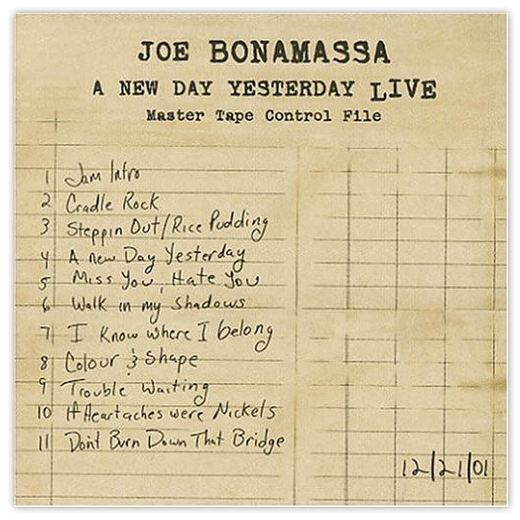 Joe Bonamassa: A New Day Yesterday Live (Vinyl) (Released: 2005)