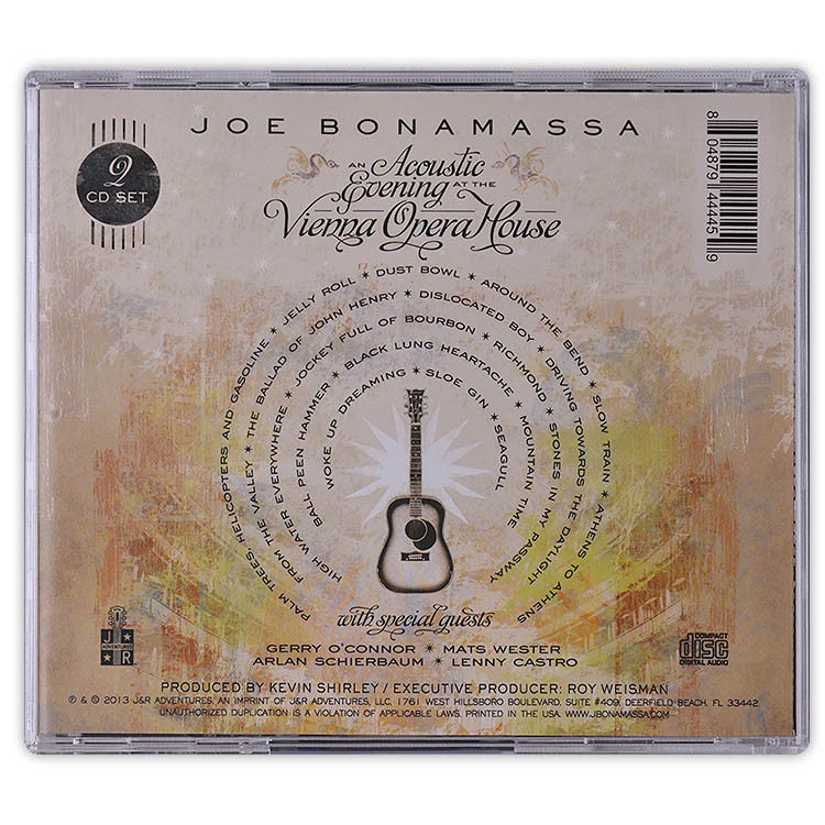 Joe Bonamassa: An Acoustic Evening At The Vienna Opera House (Double CD) (Released: 2013)