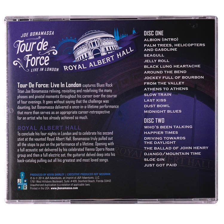 Joe Bonamassa: Tour de Force: Live In London - ROYAL ALBERT HALL (Double CD) (Released: 2014)