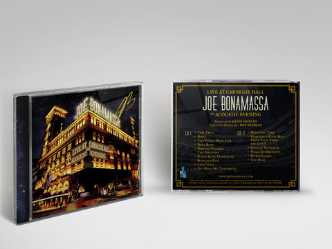 Joe Bonamassa: Live at Carnegie Hall - An Acoustic Evening (CD) (Released: 2017) - Hand-Signed ***PRE-ORDER***