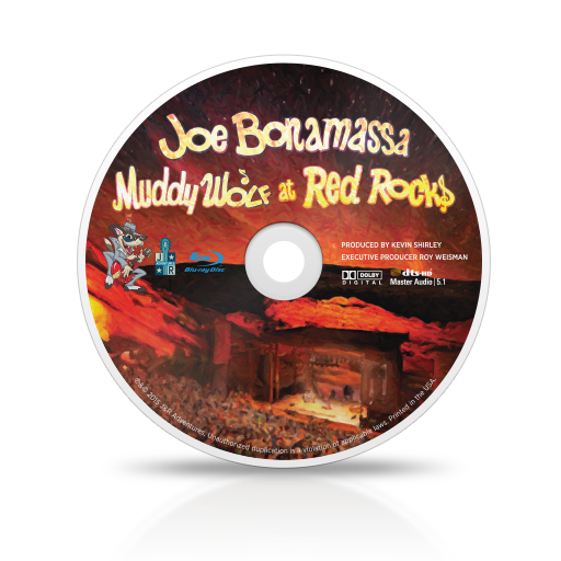 Joe Bonamassa: Muddy Wolf at Red Rocks CD and DVD or Blu-ray Package
