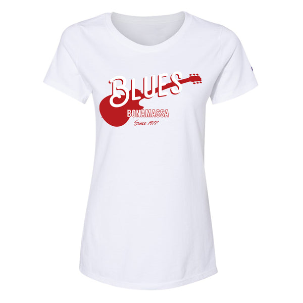 Certified Blues Champion Short Sleeve T-Shirt (Women) - White