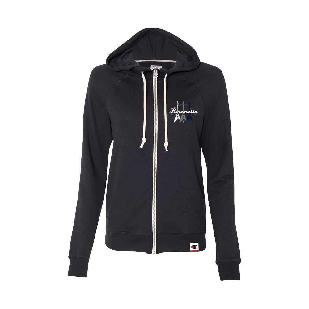 Triple Flying V - Champion Women's Zip-Up Hoodie (Black)