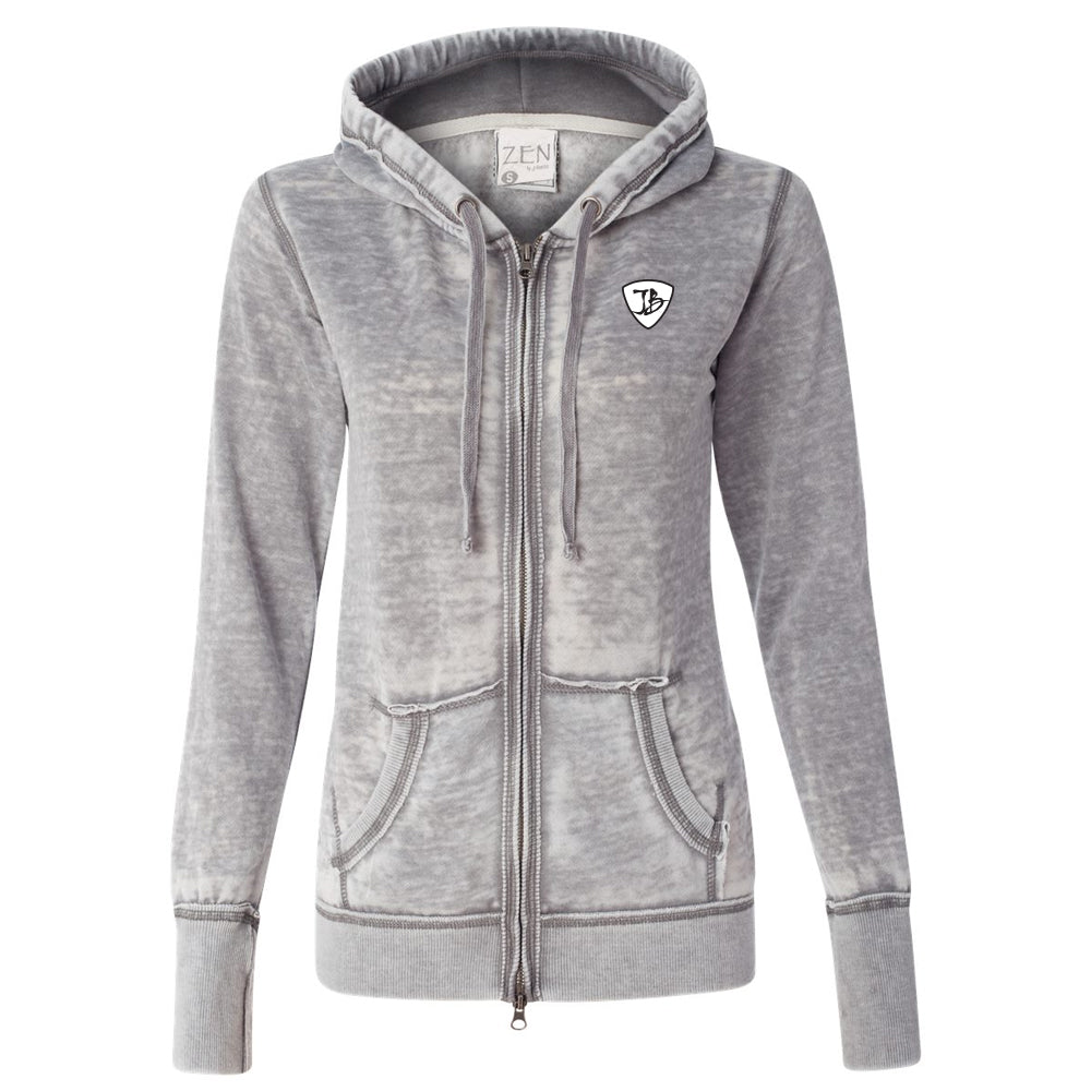 Blues Overdrive J. America Zip-Up Hooded Sweatshirt (Women) - Cement