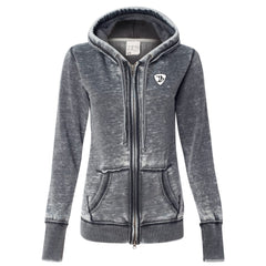 Genuine Blues J. America Zip-Up Hooded Sweatshirt (Women) - Dark Smoke