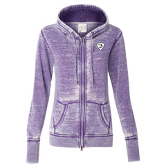 Tangled Up in Blues J. America Zip-Up Hooded Sweatshirt (Women) - Very Berry