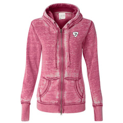 Genuine Blues J. America Zip-Up Hooded Sweatshirt (Women) -Wild Berry