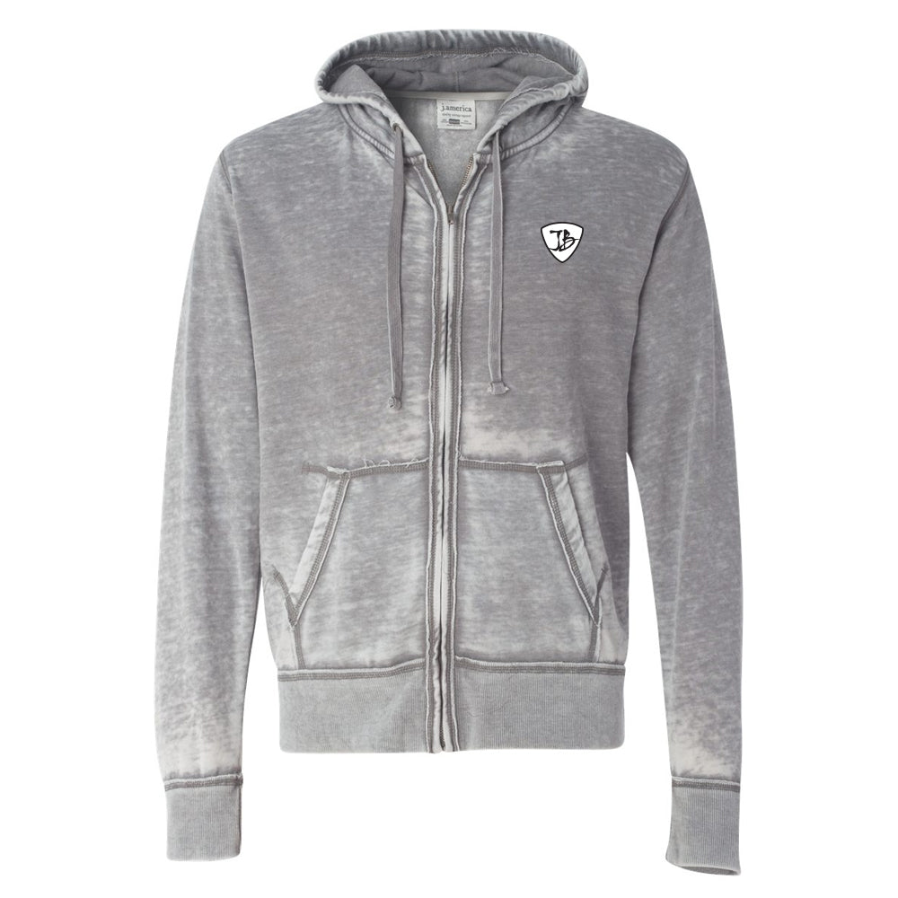 Blues Overdrive J. America Zip-Up Hooded Sweatshirt (Men) - Cement