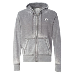 Sunset Blues J. America Zip-Up Hooded Sweatshirt (Men) - Cement