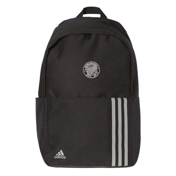 Classic Blues Rock Adidas 3 Stripes Backpack - Black