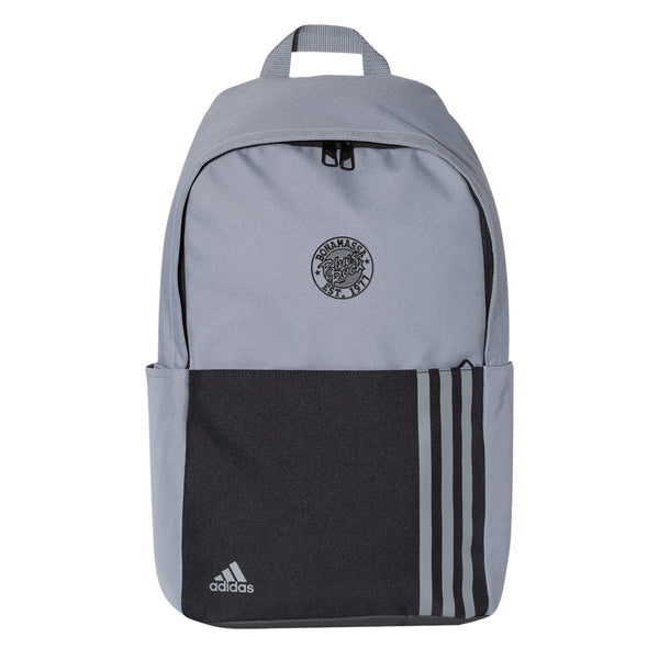 Classic Blues Rock Adidas 3 Stripes Backpack - Grey