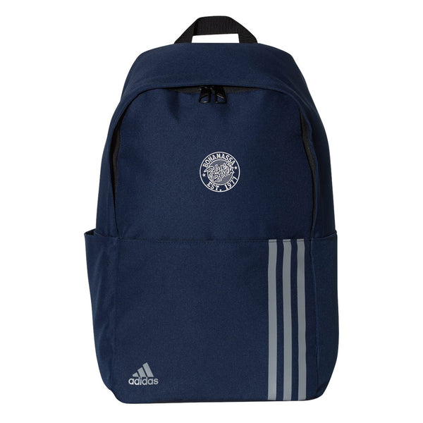 Classic Blues Rock Adidas 3 Stripes Backpack - Navy