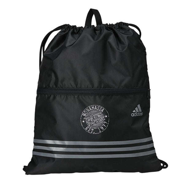Classic Blues Rock Adidas 3 Stripes Gym Sack - Black