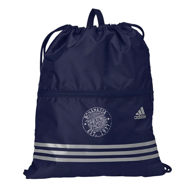Classic Blues Rock Adidas 3 Stripes Gym Sack - Navy