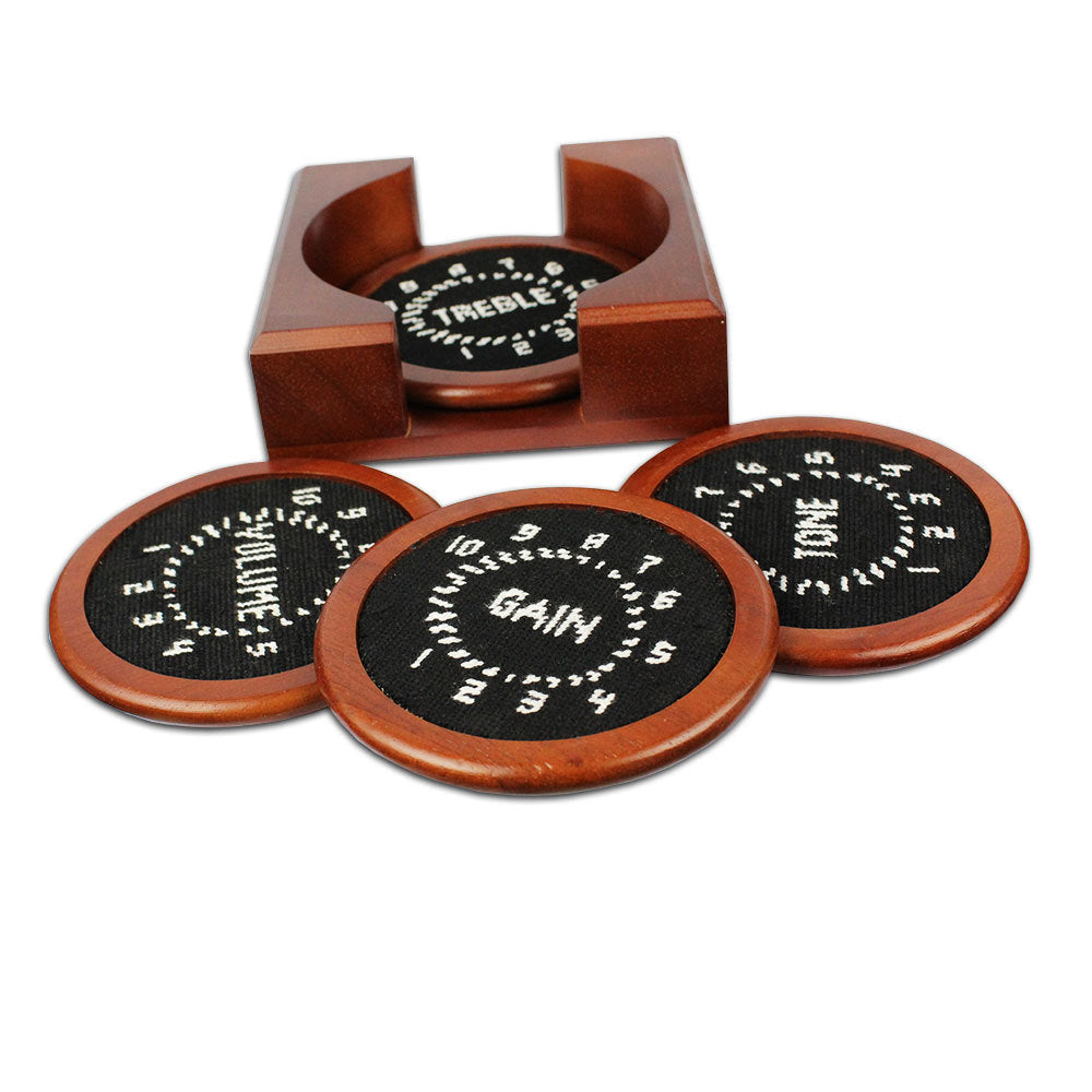 Control Knobs Needlepoint Coaster Set