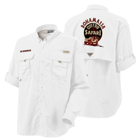 Columbia Bahama II White Long Sleeve - Bonamassa Guitar Safari (Men)