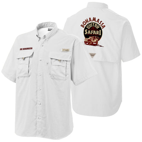 Columbia Bonehead White Short Sleeve - Bonamassa Guitar Safari (Men)