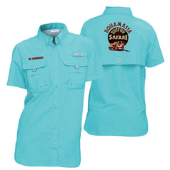 Columbia Bahama Clear Blue Short Sleeve - Bonamassa Guitar Safari (Women)