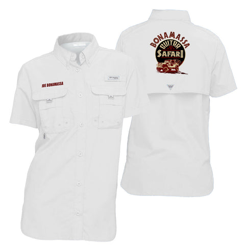 Columbia Bahama White Short Sleeve - Bonamassa Guitar Safari (Women)