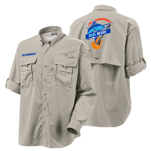 Columbia Bahama II Fossil Long Sleeve - Reel Blues (Men)
