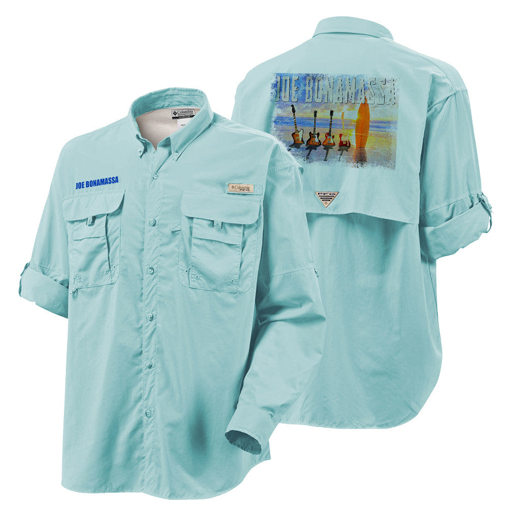 Columbia Bahama II Gulf Stream Long Sleeve - Bonamassa's Sunset Blues (Men)