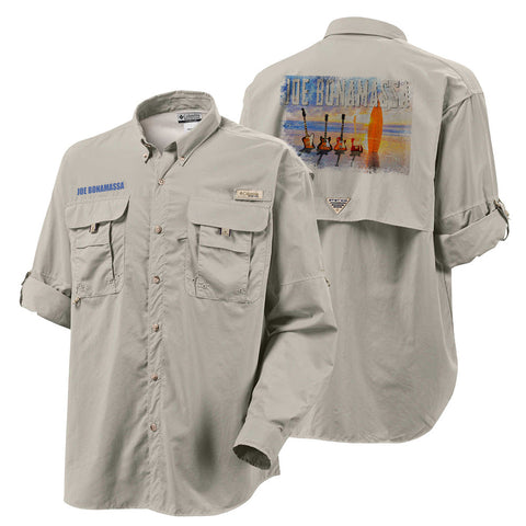 Columbia Bahama II Fossil Long Sleeve - Bonamassa's Sunset Blues (Men)