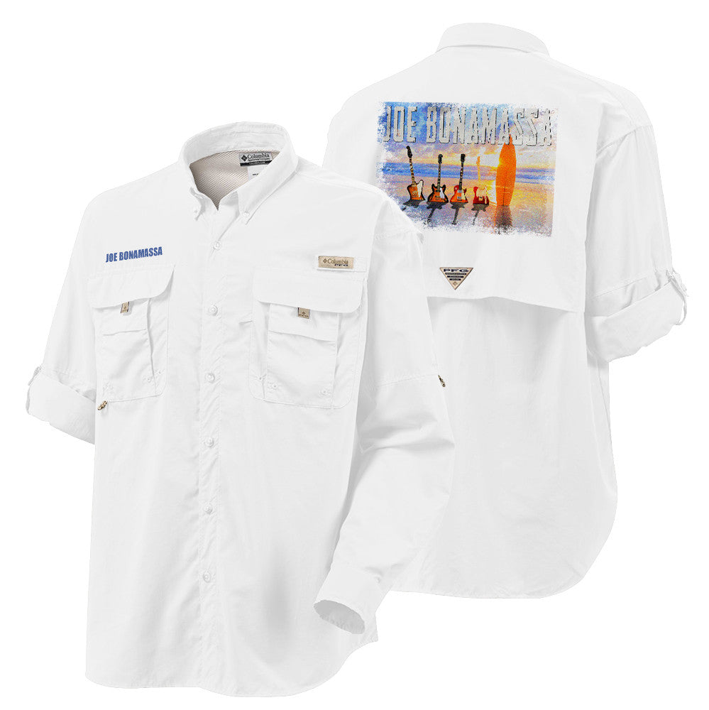 Columbia Bahama II White Long Sleeve - Bonamassa's Sunset Blues (Men)