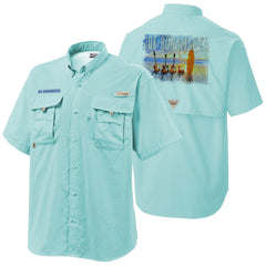 Columbia Bonehead Gulf Stream Short Sleeve - Bonamassa's Sunset Blues (Men)