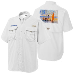 Columbia Bonehead White Short Sleeve - Bonamassa's Sunset Blues (Men)