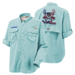Columbia Bahama II Gulf Stream Long Sleeve - Pure Blues (Men)