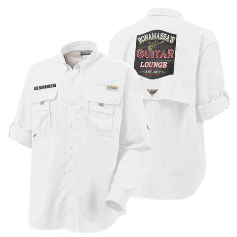 Columbia Bonehead White Short Sleeve - Bonamassa's Guitar Lounge (Men)