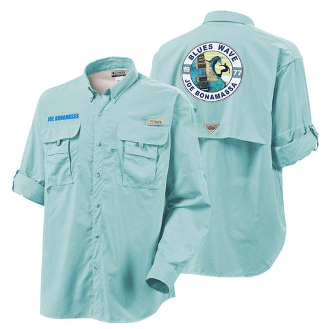 Columbia Bahama II Gulf Stream Long Sleeve - Blues Wave (Men)