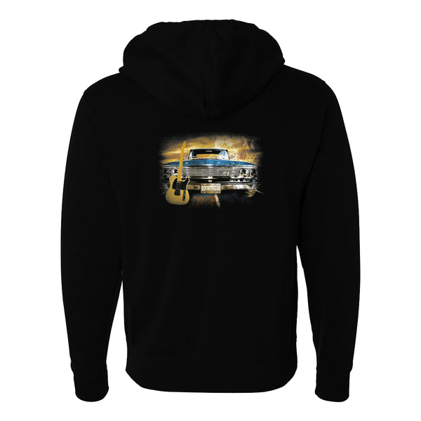 Cruisin' Blues Zip-Up Hoodie (Unisex)