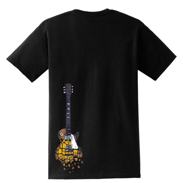 Crumbling Guitar Pocket T-Shirt (Unisex)