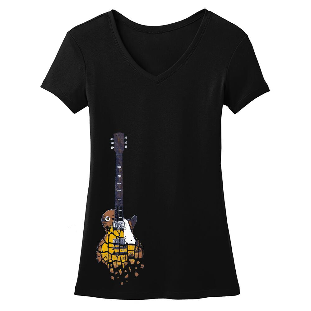 Crumbling Guitar V-Neck (Women)