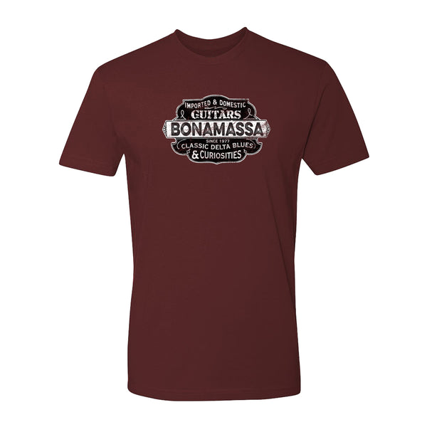 Blues & Curiosities T-Shirt (Unisex) - Maroon