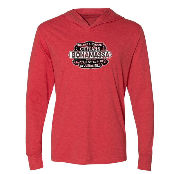 Blues & Curiosities Long Sleeve & Hoodie (Unisex) - Red