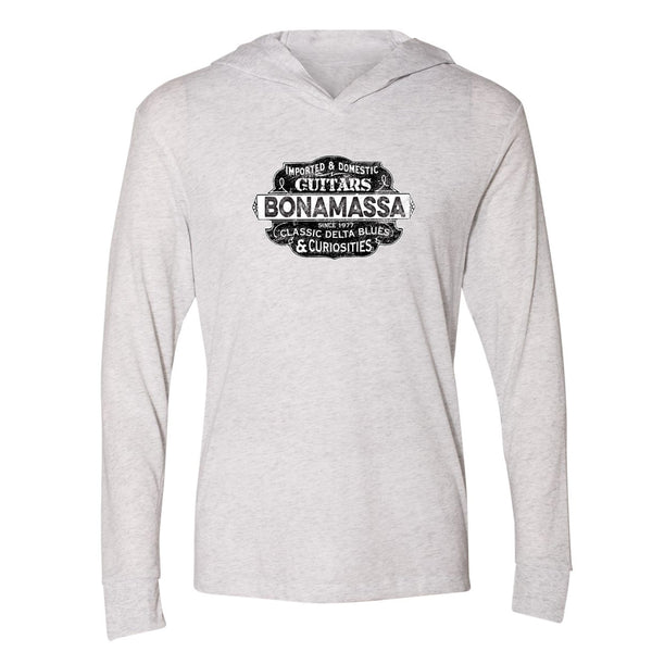 Blues & Curiosities Long Sleeve & Hoodie (Unisex) - White