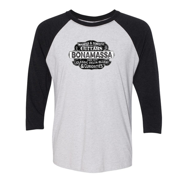 Blues & Curiosities 3/4 Sleeve T-Shirt (Unisex) - Black/White