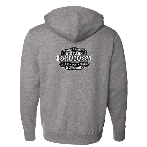 Blues & Curiosities Zip-Up Hoodie (Unisex) - Gunmetal