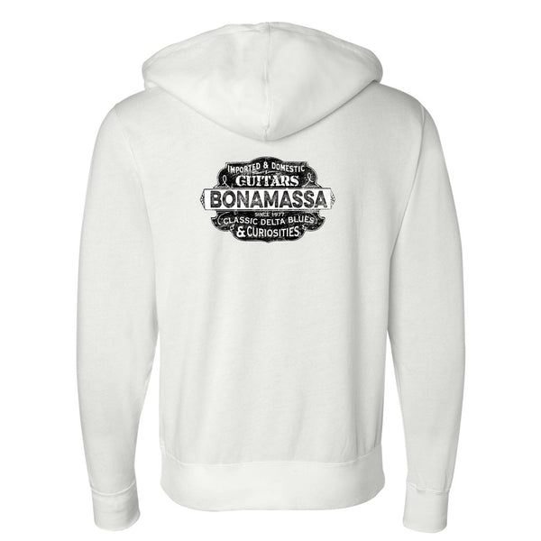 Blues & Curiosities Zip-Up Hoodie (Unisex) - White