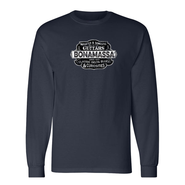 Blues & Curiosities Champion Long Sleeve T-Shirt (Unisex) - Navy