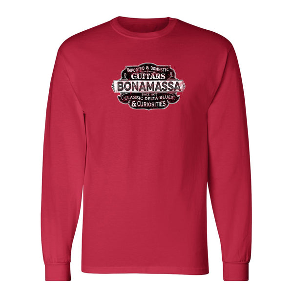 Blues & Curiosities Champion Long Sleeve T-Shirt (Unisex) - Red