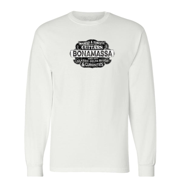 Blues & Curiosities Champion Long Sleeve T-Shirt (Unisex) - White