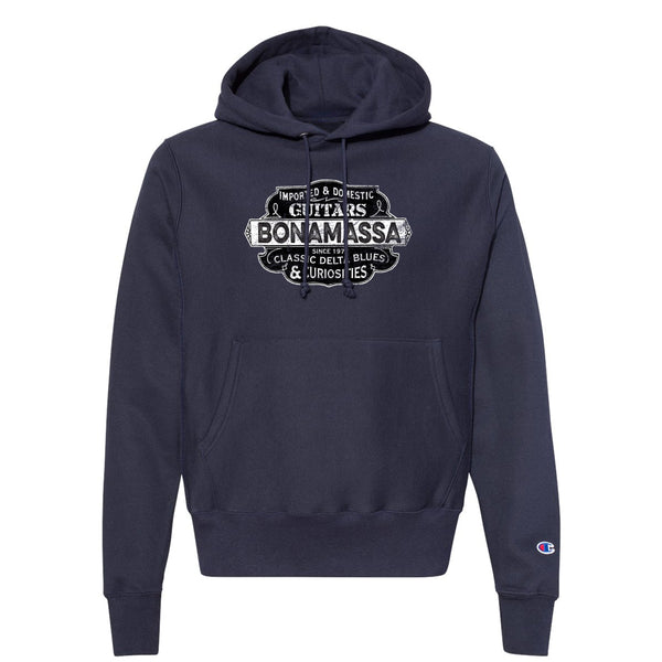 Blues & Curiosities Champion Hooded Pullover (Unisex) - Navy